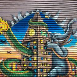Graffiti v Bangkoku